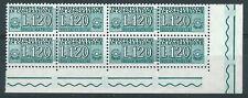 1955-81 ITALIA PACCHI IN CONCESSIONE STELLE 120 LIRE QUARTINA LUSSO MNH ** - 3
