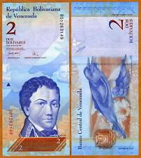Venezuela, 2 Bolivares, 24-5-2007 (2008), NEW, Pick 88, UNC