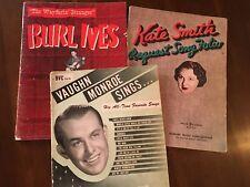 """Vaughn Monroe Sings, """"The Wayfaring Stranger"""" Burl Ives, Kate Smith's Song Folio"""