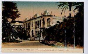 Algeria / Alger vintage Levy et Neurdein Postcard CPA  Palais Mustapha Superieur