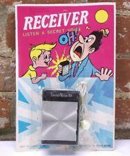 NOS NOC VTG 1960s Retro Graphics Secret Voice Receiver Shock Radio Novelty Toy