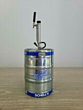 Schell's Brewing Co New Ulm, Mn Metal Beer Keg Coin Piggy Bank