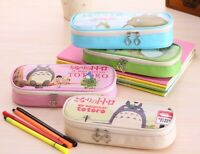 Cartoon Totoro Pencil Case Stationery Pen Bag Children Kids School Supplies New