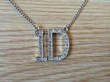 "One Direction 1D Rhinestone Necklace Pendant with 28"" Chain."