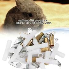 10pcs/ Set Stainless Steel Automatic Nipple Waterer Feeding for Rabbit Ferrets