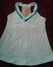 Lululemon Vtg White Bra  Top Sz 6 Work Out Yoga Sexy Larger Logo(D)