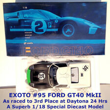 EXOTO 1/18 FORD GT40 MK II, 3RD PLACE AT DAYTONA 1966, A QUALITY DIECAST MODEL