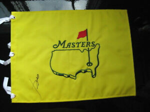 JORDAN SPIETH AUTOGRAPHED SIGNED UNDATED MASTERS GOLF PIN FLAG AUGUSTA NATIONAL