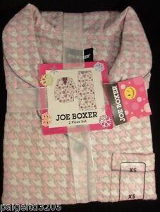 Joe Boxer 2-Piece Flannel Pajama / Sleepwear Set, Pink - Geometric