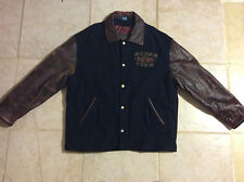Mens Vintage Guess 1981 American Team Leather Wool Varsity Jacket Size Large L