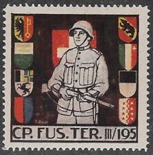 Switzerland Wwii Soldier stamp: Territory, Ter #352: Cp.Fus.Ter.Iii/195 - sw230