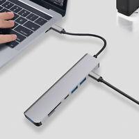 Adaptateur HDMI USB 3.0 Type-C vers USB-C Extension de hub 7 en 1 pour Macbook