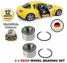 FOR MAZDA RX 8 RX8 1.3 2.6 ROTARY 2003--> 2x REAR WHEEL BEARING KIT SET