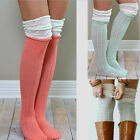 Sexy Women Girls Knit Crochet Over Knee Thigh High Stockings Boot Socks