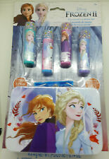 Frozen 5 Piece Kids Lip Balm Set Plus Bonus Tin Storage NEW SEALED
