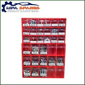 2275 PIECE NUTS & BOLTS VARIETY PACK WITH STORAGE BOXES - M6, M8, M10, M12