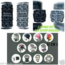 Royal Enfield Printed 11 in1 Multifunctional Headwrap Bandana Scarf  **COMBO 2**