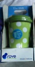 ROVE 10oz. DOUBLE WALL INSULATED HOT COLD PORCELAIN TRAVEL TUMBLER-GREEN