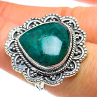 Large Chrysocolla 925 Sterling Silver Ring Size 7 Ana Co Jewelry R43770F