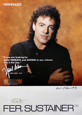 Journey Neal Schon 1992 Fernandes Sustainer William Hames Signed Promo Poster