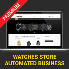 Watches Shop - Automated Business Website For Sale