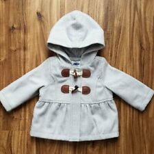 Old Navy Baby Girl Jacket Hooded Toggle Heather Gray 3-6 Months