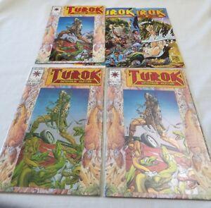 Vintage Turok Dinosaur Hunter Comic Valiant Comics # 1 2 3 Lot of 5 RARE AWESOME