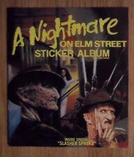 A Nightmare on Elm Street Unused Sticker Album ~ Freddy Kruger Horror Movie