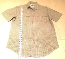 Levis Authentic Jeanswear Green Plaid Western Pearl Snap Vlv Mens Medium Shirt
