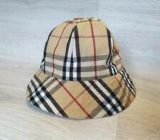 Authentic Vintage Burberry Reversible Bucket Hat Cap Nova Check Size M 44 in