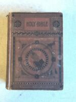 Antique 1887 HOLY BIBLE OLD AND NEW TESTAMENTS American Bible Society