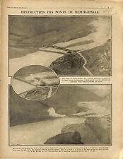 Destruction Pont Demir Hisar Bridge Macedonia Macédoine / Poland Polska 1916 WWI