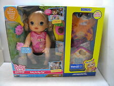 BABY ALIVE GO BYE BYE DOLL BLONDE BONUS NIB CRAWLS TALKS W/CLOTHES & ACCESSORIES