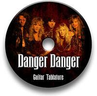 DANGER DANGER GLAM METAL HEAVY ROCK GUITAR TAB TABLATURE SONG BOOK SOFTWARE CD