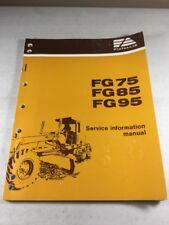 Fiat Allis Fg75 Fg85 Fg95 Motor Grader Iveco Eng Service Information Manual
