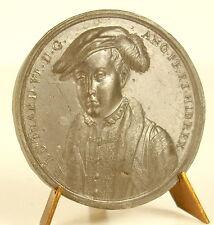 Médaille Edouard Edward VI hat & feather cloak & ermine sc Jean Dassier medal
