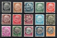 Germany 1933 Hindenburg used set #482-495 WS14616