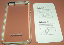 Puregear Slim Shell case iPhone 4/4s, Clear back, White Bumper, New in package