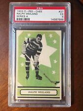1933 OPC V304A Ralph Cooney Weiland RC #27 PSA 5 EX Ottawa Bruins HOF