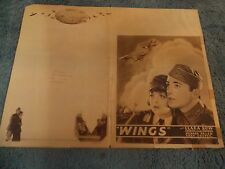 "WINGS(1928)CLARA BOW ORIGINAL 4 PAGE JUMBO HERALD  10""BY15"" VERY RARE!"