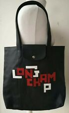 LONGCHAMP Tote BAG real leather Made in France black LE PLIAGE CUIR LGP BNWOT