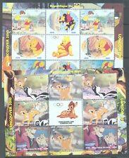 MALI 2010 Vancouver Disney 3 feuilles de 8 a utilisé, léger annuler