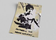 ACEO Banksy Bruce Lee Graffiti Street Art on Canvas Giclee Print
