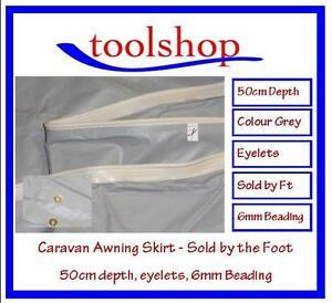 Awning Skirt Caravan Motorhome Awning Draught / Mud Skirt 50cm depth