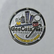 2008 Pittsburgh Geocoinfest Geocaching Geocoin Pathtag Trackable Unactivated