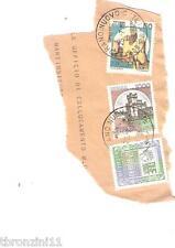 3 FRANCOBOLLI (L.2000 ITALIA/CASTELLO DI MONTAGNANA/ROCCA DI CALASCIO) DA BUSTA