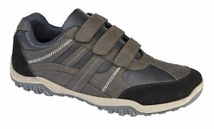 Mens Casual 3 Strap Touch Fastening Walking Trail Trainers Shoes Size