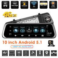 Junsun Android Touch 4G WIFI Car DVR Camera GPS ADAS Rear View Mirror Dash Cam