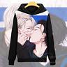 Anime YURI!!! on ICE Cosplay Outerwear Sweatshirt Pullover Hoodie Coat Unisex