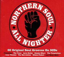 NORTHERN SOUL ALL NIGHTER - 60 ORIGINAL SOUL GROOVES  (NEW SEALED 3CD)